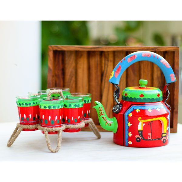 Handpainted Kettle Set 5022-S