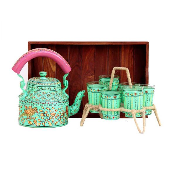 Handpainted Kettle Set 5070-S