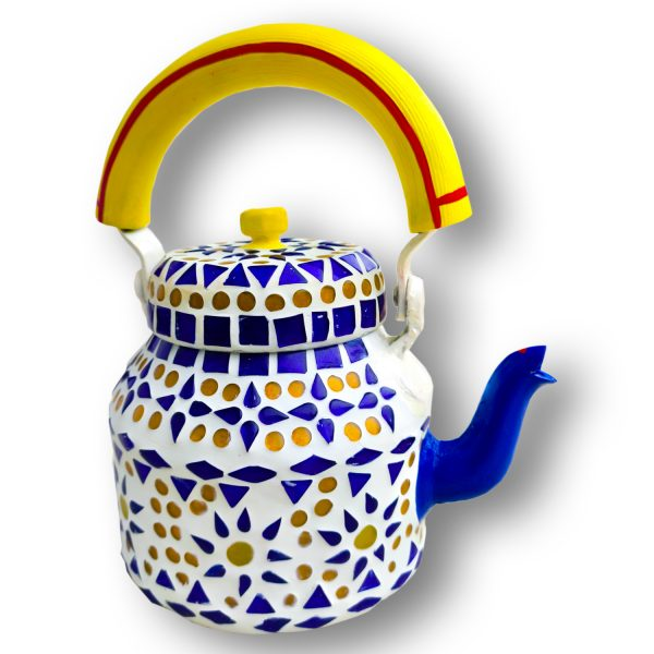 Handmade Mosaic Work Kettle 5123