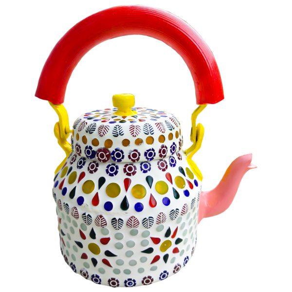 Handmade Mosaic Work Kettle 5124