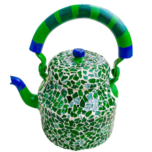 Handmade Mosaic Work Kettle 5125