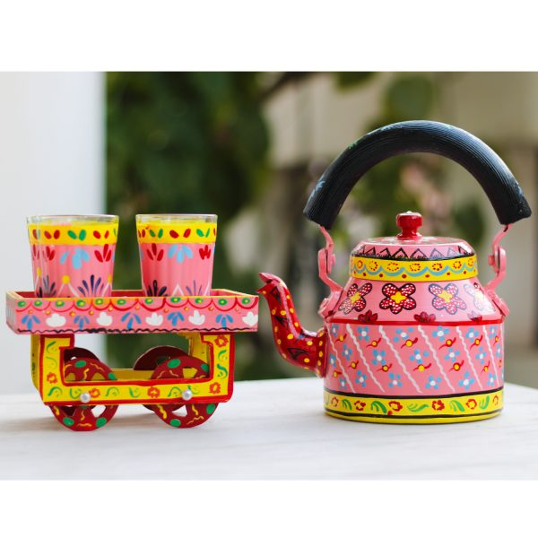 Handpainted Kettle Set 5151-T