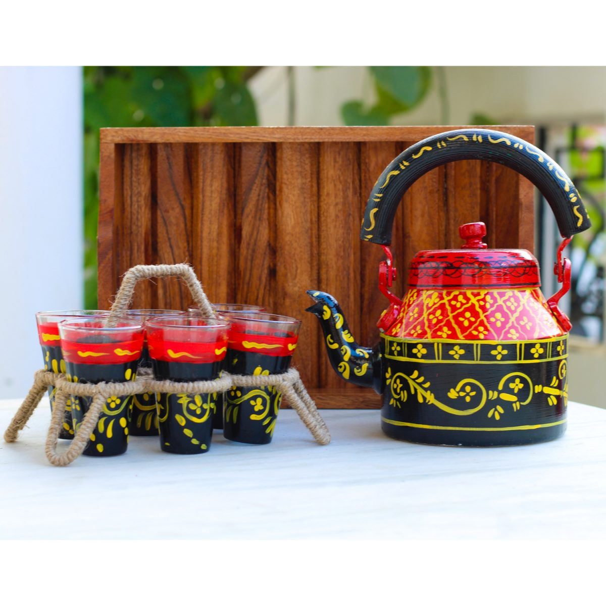 Handpainted Kettle Set 5153-S