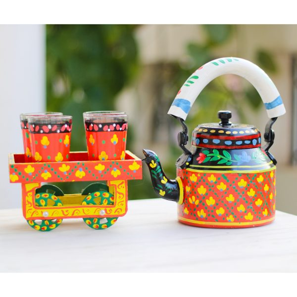 Handpainted Kettle Set 5154-T
