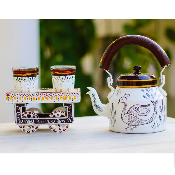 Handpainted Kettle Set 5155-T