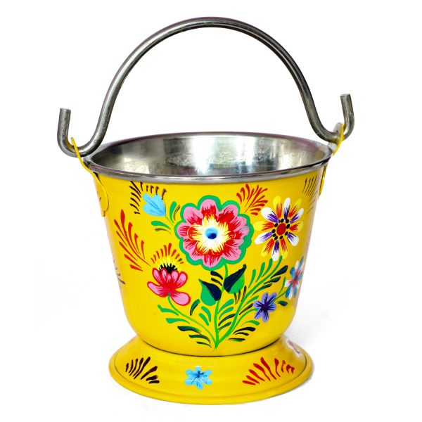 Enamel Hand Painted Bucket B-01
