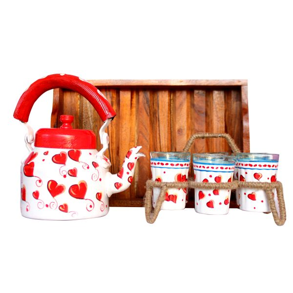 Valentine Special Hand Painted Kettle Set