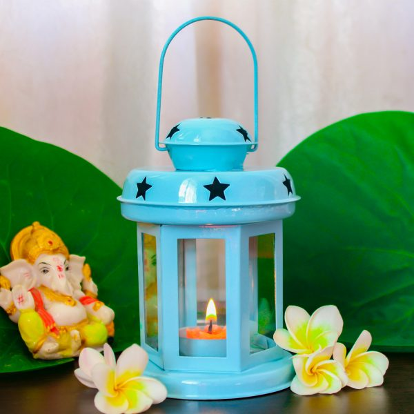 Light Blue Hanging Star Lantern