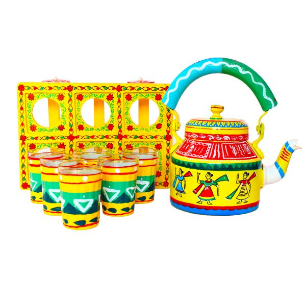 Handpainted Kettle Set 5167-T