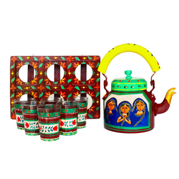 Handpainted Kettle Set 5164-T