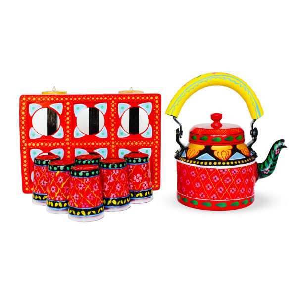 Handpainted Kettle Set 5163-T
